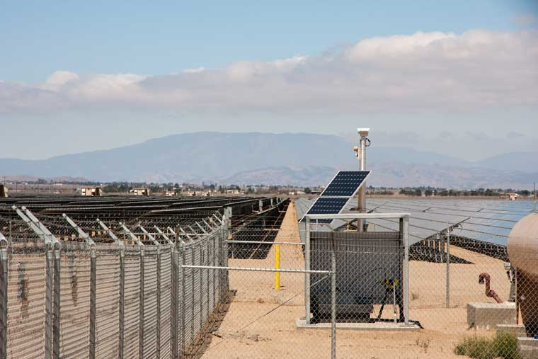 Utility Solar Security Perimeter Surveillance