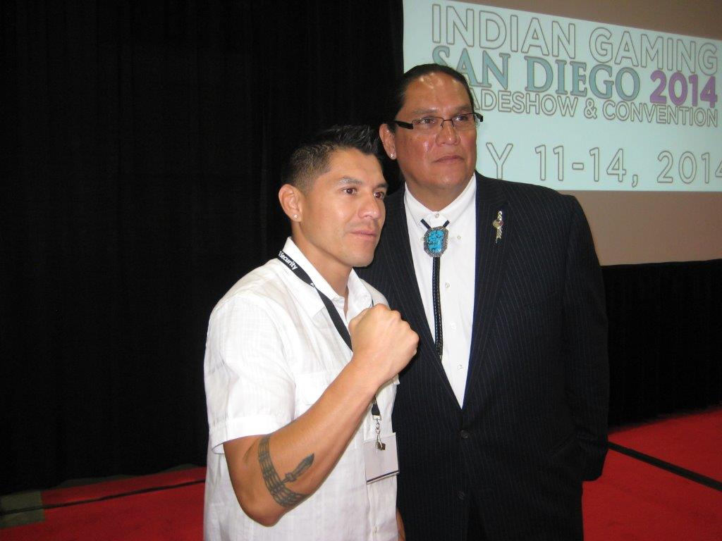 Chairman Ernie Stevens II with Comanche Boy