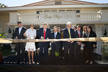 Ribbon cutting ceremony Trump National Doral