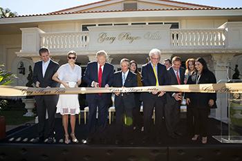 Ribbon cutting ceremony Trump National Doral