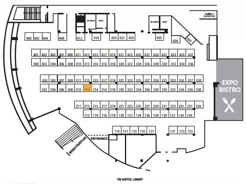 South Florida Expo_booth map
